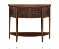 Lisbon Two Drawer Demilune Consol Table