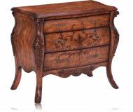 Margaux Three Drawer Bombe Chest