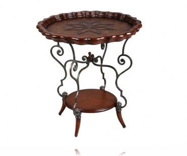 Opulence Piecrust Side Table