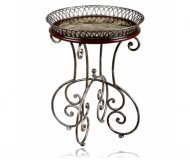 Opulence Round Accent Table Metal Gallery